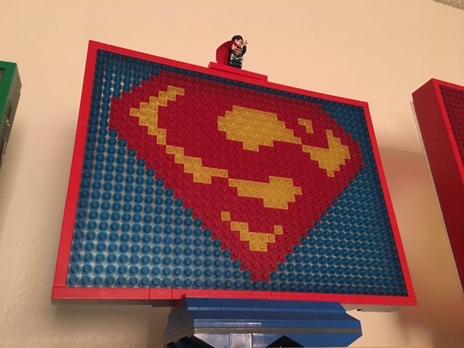 Superman LEGO mosaic light