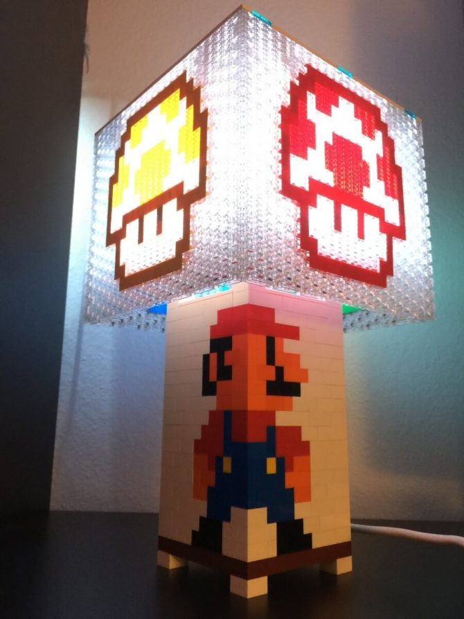 Mario Lamp U2013 Power Up Mushrooms Top