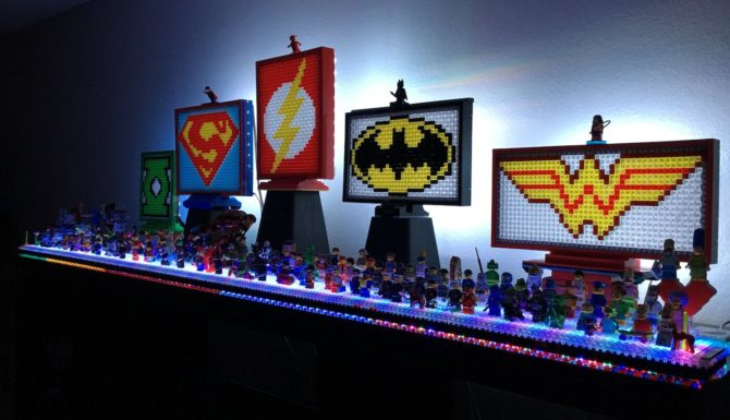 Justice League LEGO mosaic set