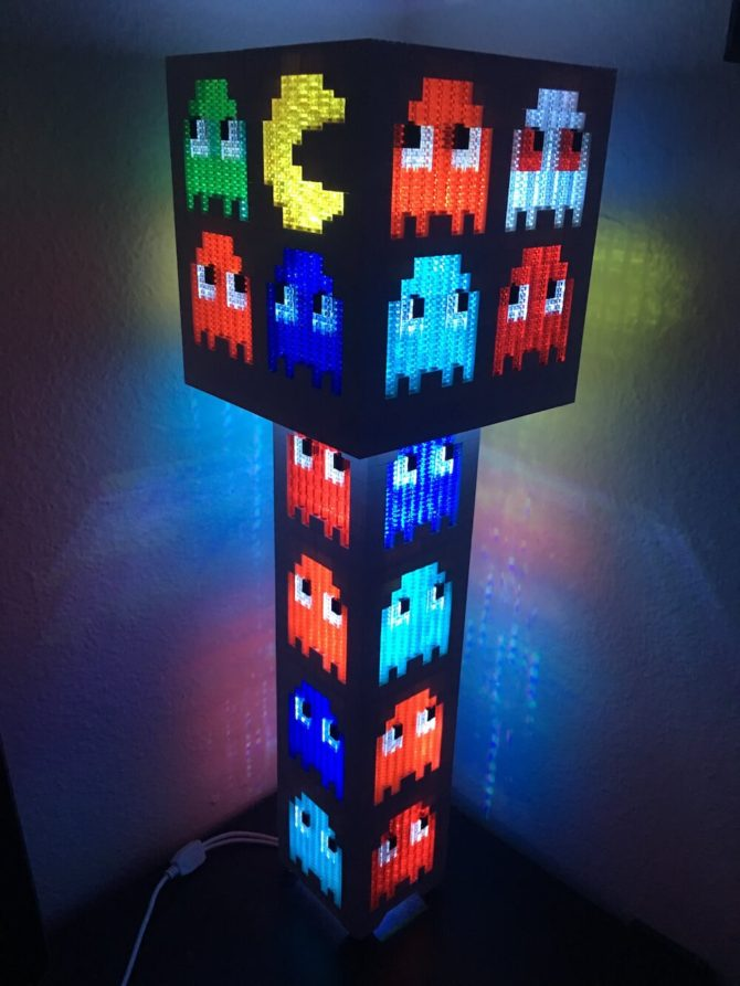 Pacman LEGO Tower Lamp